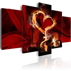 Πίνακας - Flames of love: heart - 200x100