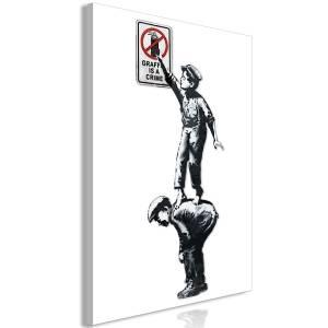 Πίνακας - Graffiti Is a Crime (1 Part) Vertical - 60x90