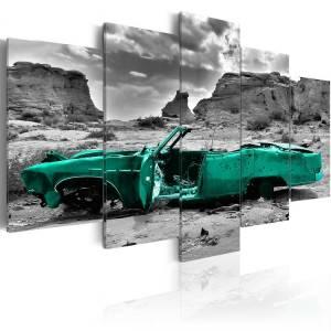 Πίνακας - Green car - 100x50