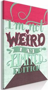 Πίνακας - I'm Not Weird (1 Part) Vertical - 80x120