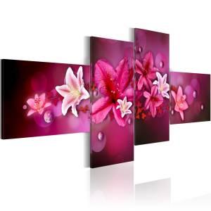 Πίνακας - Lilies and pearls - 100x45