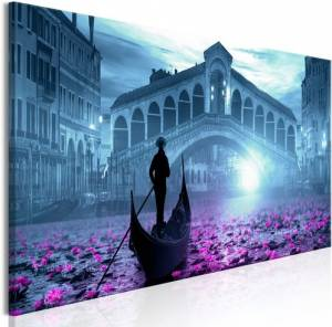 Πίνακας - Magic Venice (1 Part) Narrow Blue - 135x45