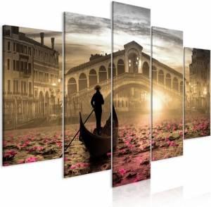 Πίνακας - Magic Venice (5 Parts) Wide Orange - 200x100