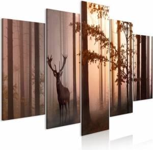 Πίνακας - Morning (5 Parts) Wide Brown - 200x100