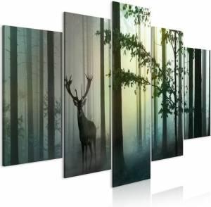 Πίνακας - Morning (5 Parts) Wide Green - 200x100