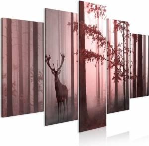 Πίνακας - Morning (5 Parts) Wide Pink - 100x50