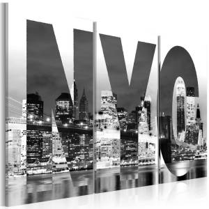 Πίνακας - New York (black and white) - 90x60