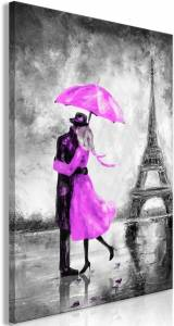 Πίνακας - Paris Fog (1 Part) Vertical Pink - 60x90
