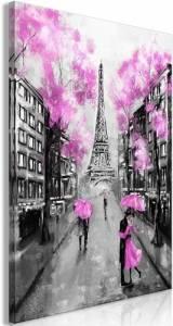 Πίνακας - Paris Rendez-Vous (1 Part) Vertical Pink - 60x90