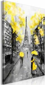 Πίνακας - Paris Rendez-Vous (1 Part) Vertical Yellow - 60x90