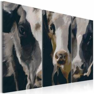 Πίνακας - Piebald cow - 90x60