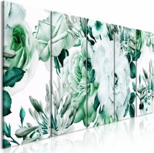 Πίνακας - Rose Composition (5 Parts) Narrow Green - 200x80