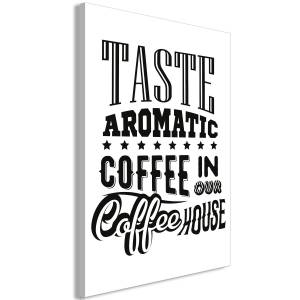 Πίνακας - Taste Aromatic Coffee in Our Coffee House (1 Part) Vertical - 60x90