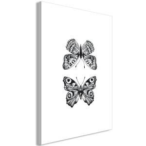 Πίνακας - Two Butterflies (1 Part) Vertical - 40x60