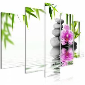 Πίνακας - Water Garden (5 Parts) Wide - 200x100
