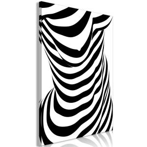Πίνακας - Zebra Woman (1 Part) Vertical - 60x90