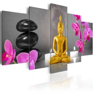 Πίνακας - Zen: golden Buddha - 200x100