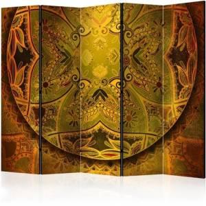 Διαχωριστικό με 5 τμήματα - Mandala: Golden Power II [Room Dividers]