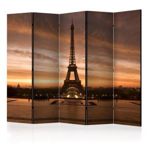 Διαχωριστικό με 5 τμήματα - Evening Colours of Paris II [Room Dividers]