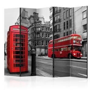 Διαχωριστικό με 5 τμήματα - London Icons II [Room Dividers]