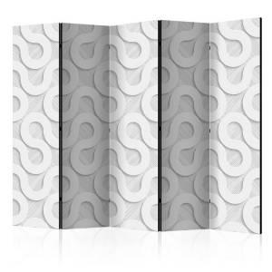 Διαχωριστικό με 5 τμήματα - Grey Spirals II [Room Dividers]