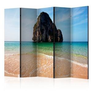 Διαχωριστικό με 5 τμήματα - Rock formation by shoreline, Andaman Sea, Thailand II [Room Dividers]
