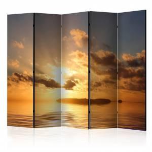 Διαχωριστικό με 5 τμήματα - sea - sunset II [Room Dividers]