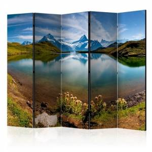 Διαχωριστικό με 5 τμήματα - Lake with mountain reflection, Switzerland II [Room Dividers]
