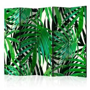 Διαχωριστικό με 5 τμήματα - Tropical Leaves II [Room Dividers]
