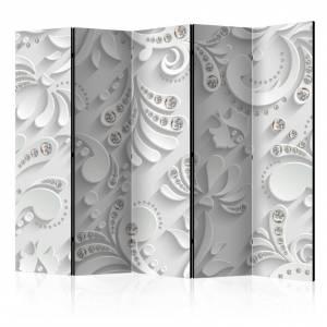 Διαχωριστικό με 5 τμήματα - Flowers with Crystals II [Room Dividers]