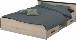 Κρεβάτι Novel-140 x 190-Fusiko-Mavro