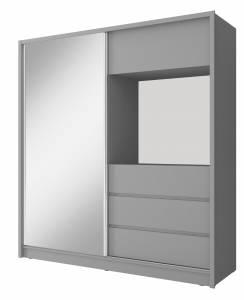 Ντουλάπα συρόμενη Sharp με καθρέπτη-Μήκος: 200 εκ.-Gkri