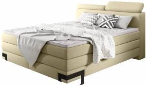 Επενδυμένο κρεβάτι Kayak με στρώμα και ανώστρωμα-140 x 200-Kitrino