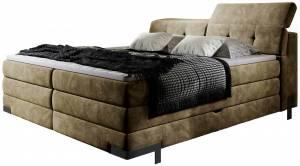 Επενδυμένο κρεβάτι Merak με στρώμα και ανώστρωμα-140 x 200-Mpez