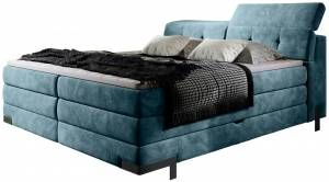 Επενδυμένο κρεβάτι Merak με στρώμα και ανώστρωμα-140 x 200-Mple