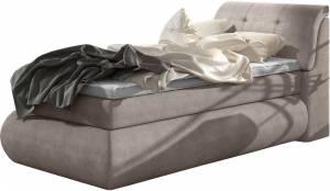 Επενδυμένο κρεβάτι Gustave με στρώμα και ανώστρωμα-100 x 200-Mpez