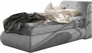 Επενδυμένο κρεβάτι Gustave με στρώμα και ανώστρωμα-120 x 200-Gkri
