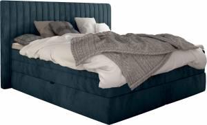 Επενδυμένο κρεβάτι Melantha με στρώμα και ανώστρωμα-140 x 200-Petrol