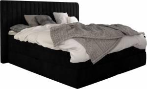 Επενδυμένο κρεβάτι Melantha με στρώμα και ανώστρωμα-160 x 200-Mauro