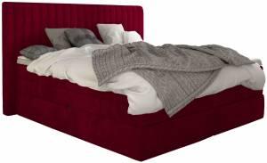 Επενδυμένο κρεβάτι Melantha με στρώμα και ανώστρωμα-180 x 200-Roz
