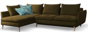 Γωνιακός καναπές Camille-Δεξιά-Moustardi