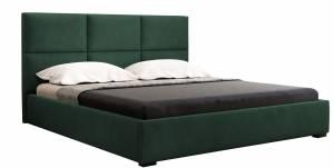 Επενδυμένο κρεβάτι Rehhag-Prasino-140 x 200-Με μηχανισμό ανύψωσης