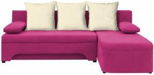 Γωνιακός καναπές Lamor-Ροζ - Λευκό