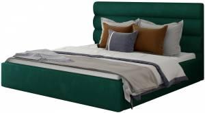Επενδυμένο κρεβάτι Volcito-160 x 200-Πράσινο-Χωρίς μηχανισμό ανύψωσης