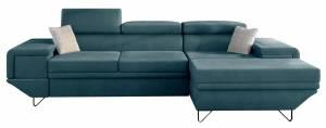 Γωνιακός καναπές Benito-Petrol-Δεξιά
