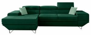 Γωνιακός καναπές Benito-Prasino-Αριστερή