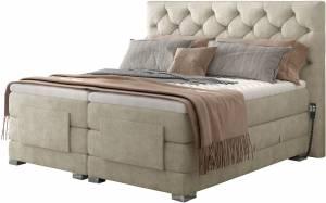 Επενδυμένο κρεβάτι Clover με στρώμα και ανώστρωμα-Mpez-160 x 200