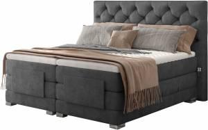 Επενδυμένο κρεβάτι Clover με στρώμα και ανώστρωμα-Anthraki-180 x 200