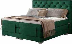 Επενδυμένο κρεβάτι Clover με στρώμα και ανώστρωμα-Prasino-160 x 200