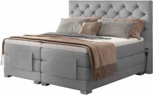 Επενδυμένο κρεβάτι Clover με στρώμα και ανώστρωμα-Gkri Anoixto-180 x 200